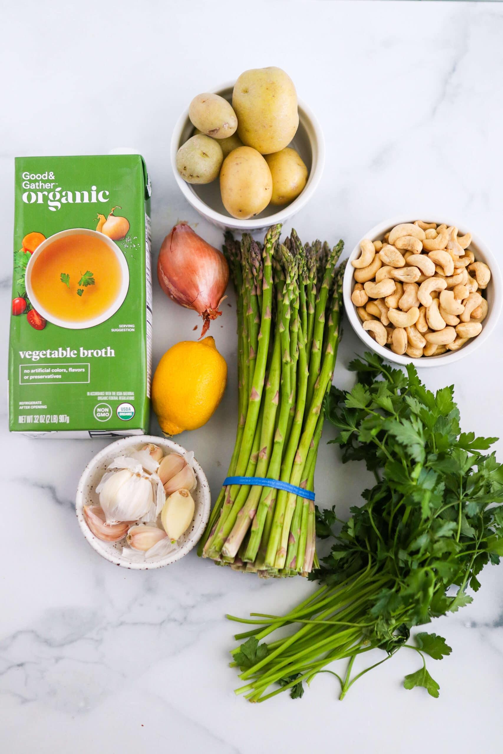 Creamy Vegan Green Asparagus Soup Gluten-Free