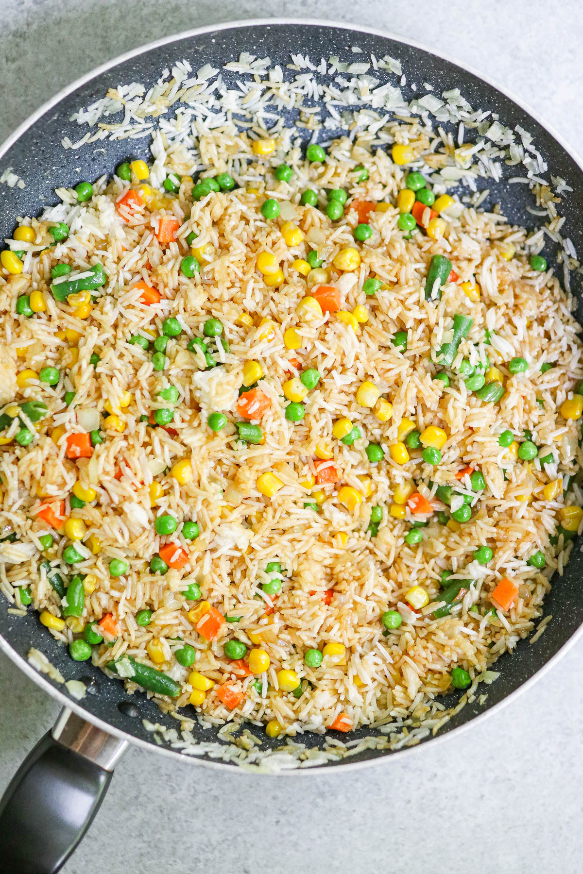 Photo of cooked fried rice