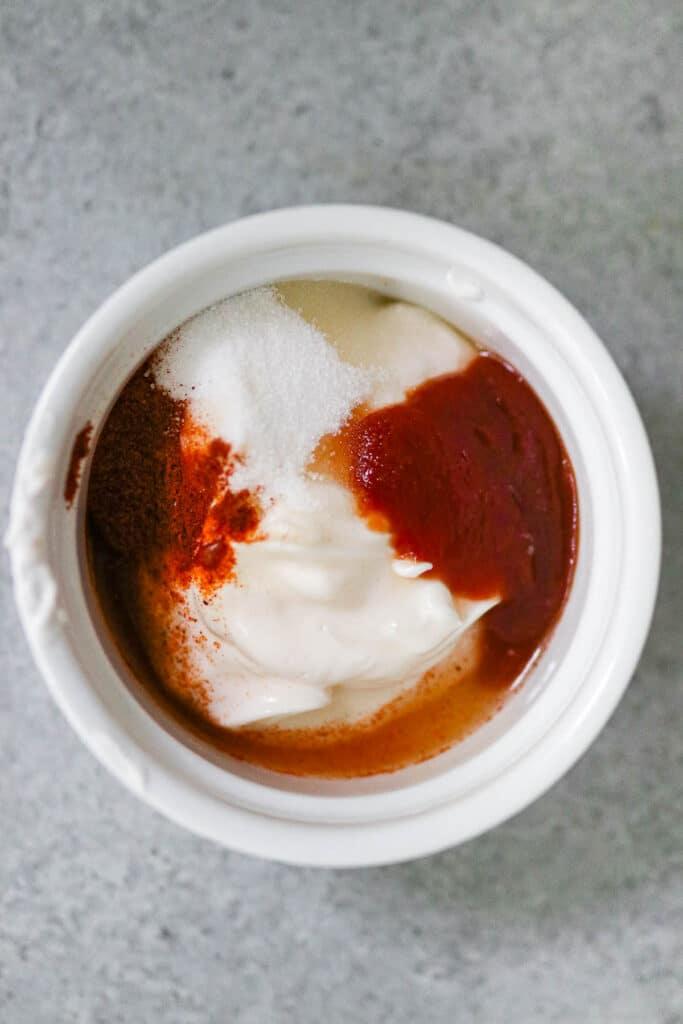 photo of yum yum sauce before mixing