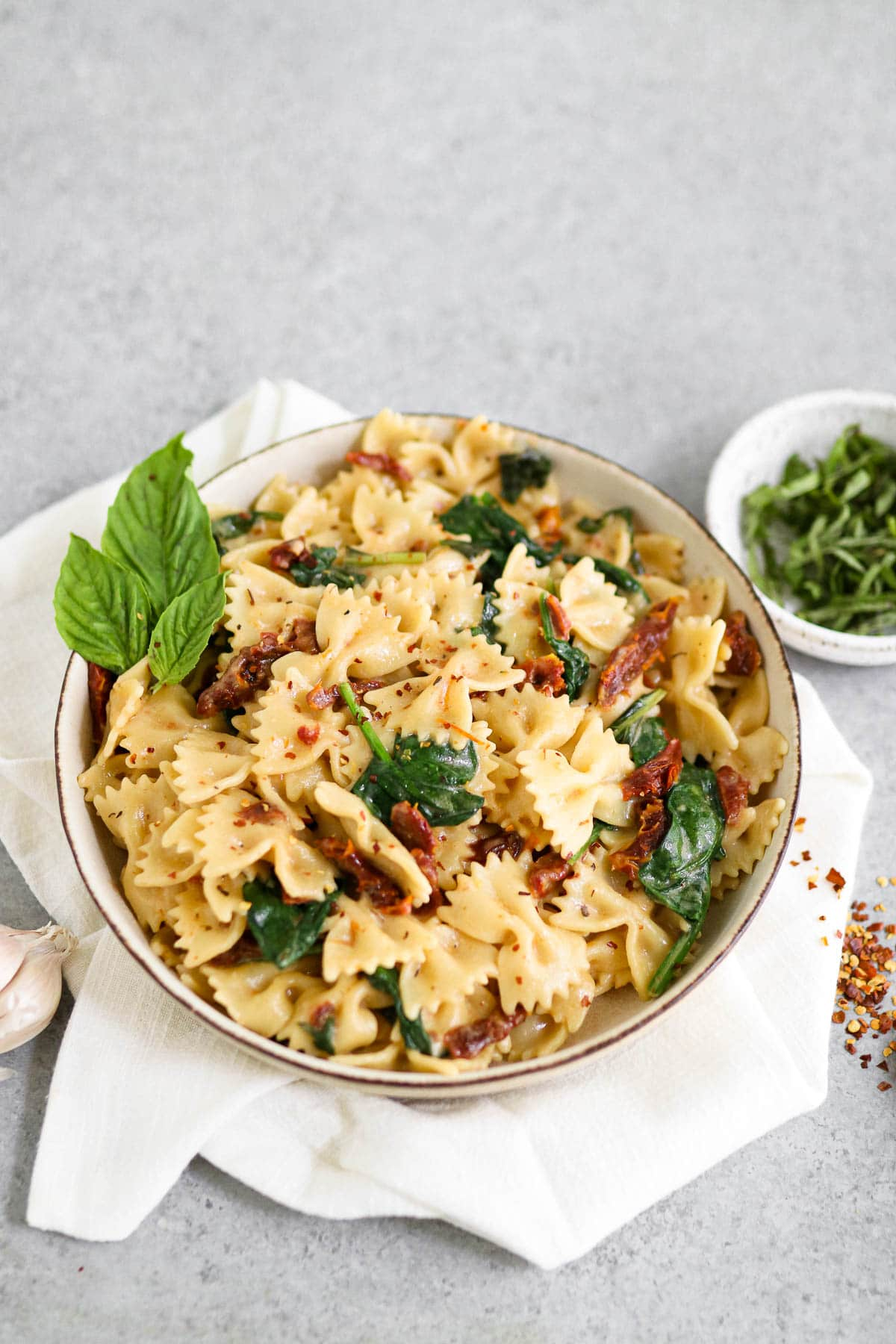photo of finished pasta dish