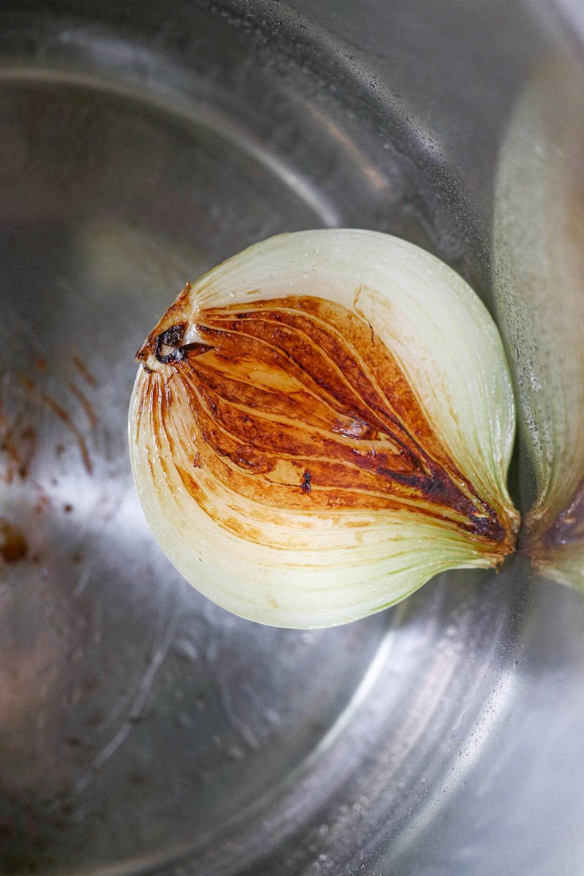 photo of charred onion